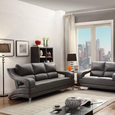 Terence Loveseat Upholstery: Gray