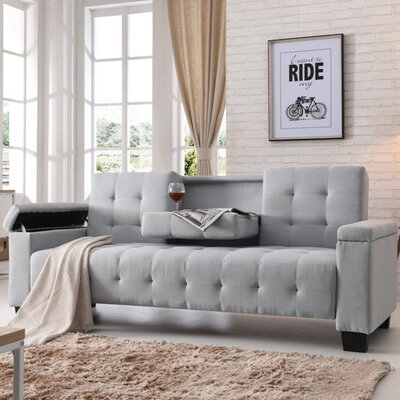 Derek Sleeper Sofa Upholstery: Light Blue