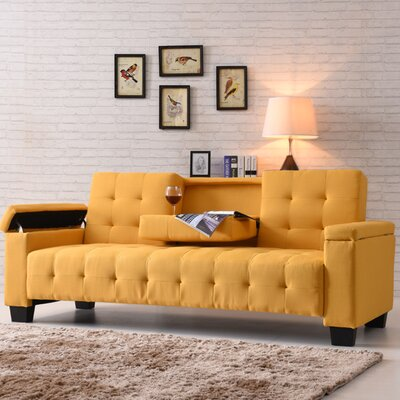 Derek Sleeper Sofa Upholstery: Yellow
