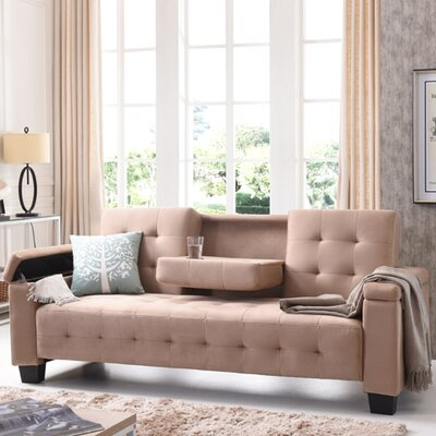 Derek Sleeper Sofa Upholstery: Suede - Saddle