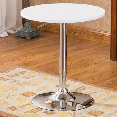Mathison Adjustable Height Pub Table Finish: White