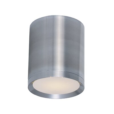Broward 1-Light Flush Mount Size: 6.25 H x 5 W x 5 D, Finish: Brushed Aluminum