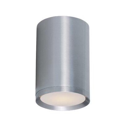 Broward 1-Light Flush Mount Finish: Brushed Aluminum, Size: 7.75 H x 5 W x 5 D
