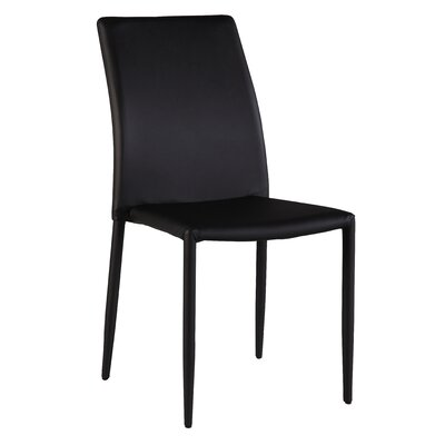 Farwell Side Chair (Set of 4) Side Chair Upholstery: Black