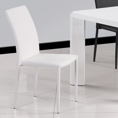 Farwell Side Chair (Set of 4) Side Chair Upholstery: White