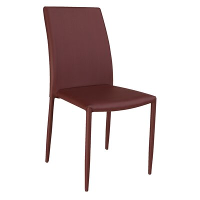 Farwell Side Chair (Set of 4) Side Chair Upholstery: Burgandy
