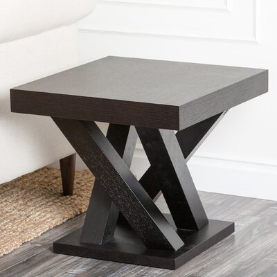 Mcnair Espresso Wood End Table