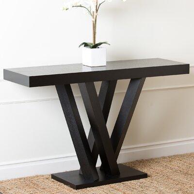 Brashear Espresso Wood Sofa Table