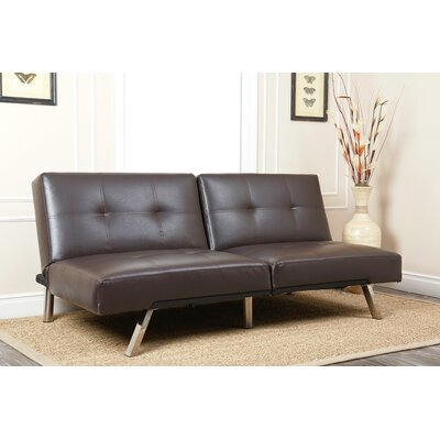Bartlette Convertible Sleeper Sofa Upholstery: Dark Brown