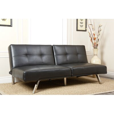 Bartlette Convertible Sleeper Sofa Upholstery: Black
