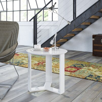 Emiliah Round End Table Finish: White Gloss