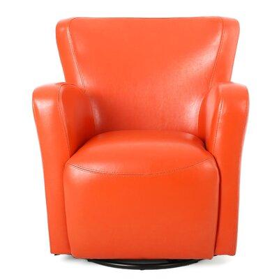 Makson Swivel Armchair Upholstery: Orange