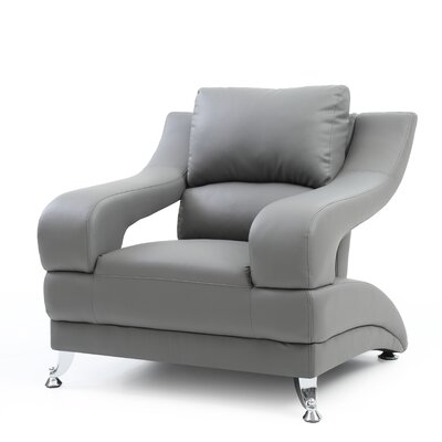 Palice Armchair Upholstery: Gray