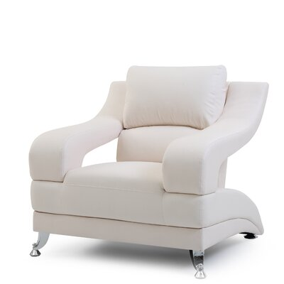 Terence Armchair Upholstery: White