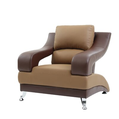 Palice Armchair Upholstery: Saddle Seat/Brown Arms