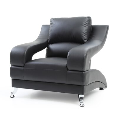 Terence Armchair Upholstery: Black