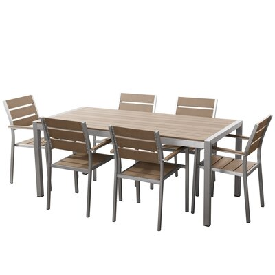 Bret 7 Piece Dining Set Finish: Tan