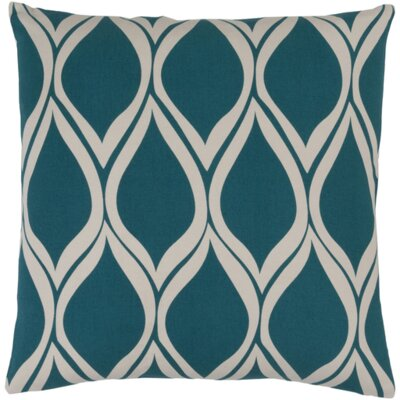 Ochoa Throw Pillow Size: 18 H x 18 W x 4 D, Color: Teal / Light Gray