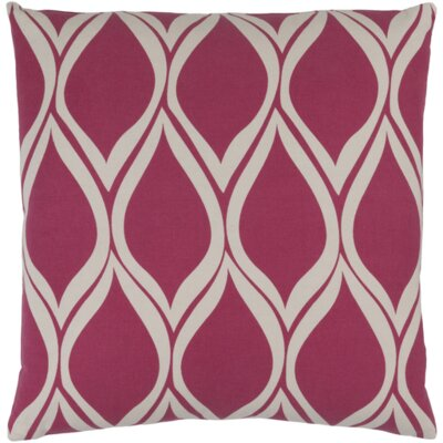 Ochoa Throw Pillow Color: Hot Pink / Light Gray, Size: 18 H x 18 W x 4 D
