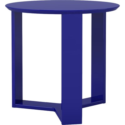 Emiliah Round End Table Finish: Midnight Blue
