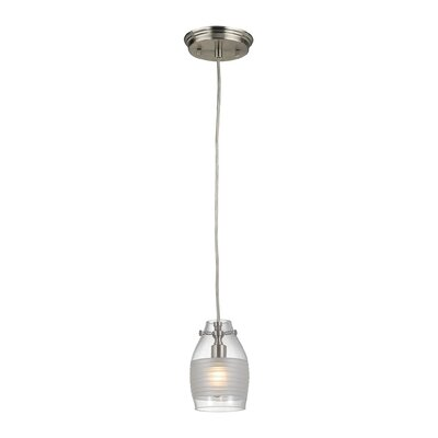 Rachelle 1-Light Mini Pendant Finish: Brushed Nickel
