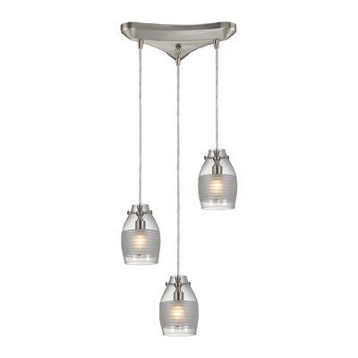 Rachelle 3-Light Pendant Finish: Brushed Nickel