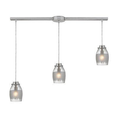 Rachelle 3-Light Kitchen Island Pendant Finish: Brushed Nickel