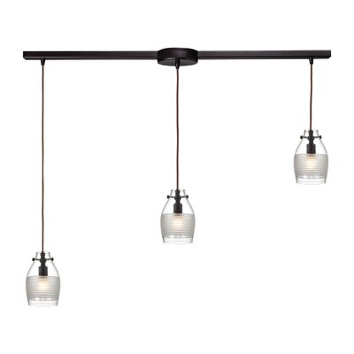 Sidon 3-Light Kitchen Island Pendant Finish: Oil Rubbed Bronze