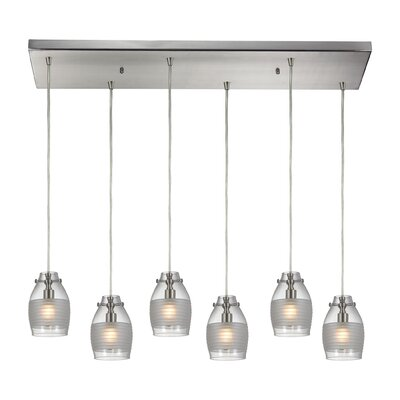 Sidon 6-Light Kitchen Island Pendant Finish: Brushed Nickel