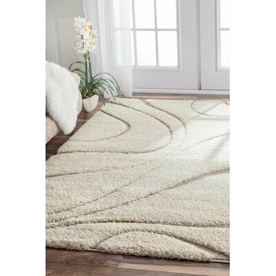 Berenson Cream Curves Area Rug by Wade Logan