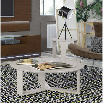Emiliah Round End Table Color: Off White