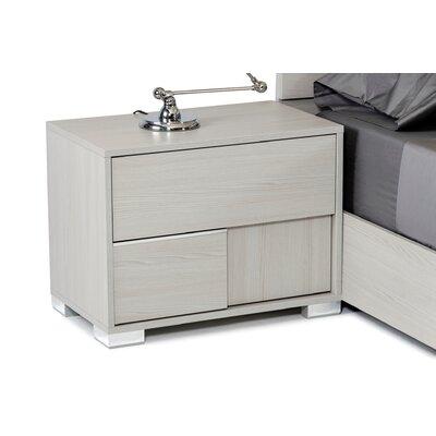 Camron 2 Drawer Wood Framed Nightstand Orientation: Left Facing