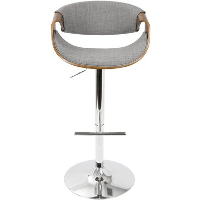 Lake Mary Swivel Bar Stool Upholstery: Gray