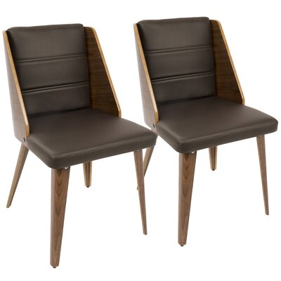 Melrose Side Chair Upholstery: Brown