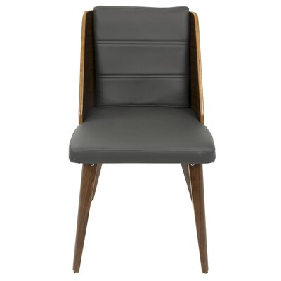 Melrose Side Chair Upholstery: Gray