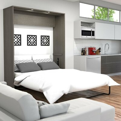 Medan Murphy Bed Size: Queen, Color: Bark Gray