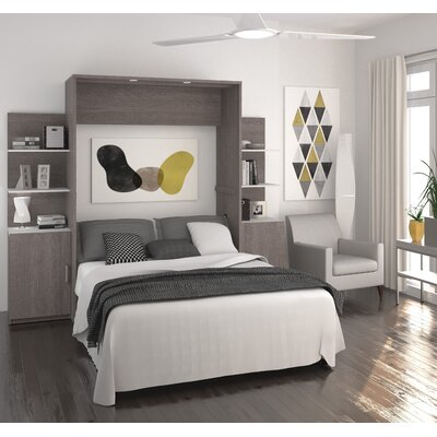 Medan Murphy Bed Finish: Oak Barrel, Size: Queen