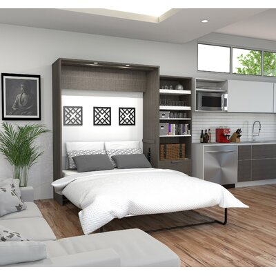 Medan Premium Murphy Bed Size: Full, Color: Bark Gray