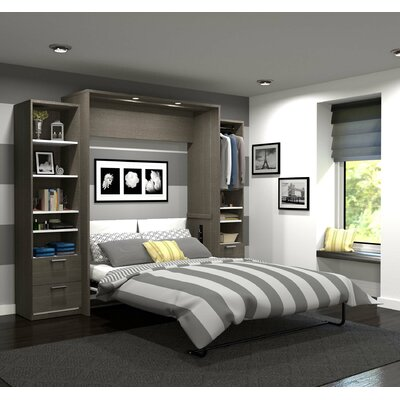 Medan Premium Murphy Bed Size: Queen, Finish: Oak Barrel