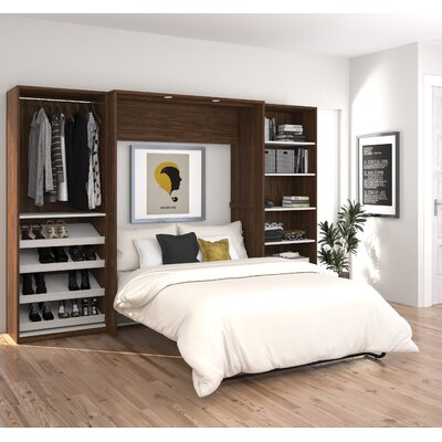 Medan Classic Murphy Bed Size: Queen, Finish: Oak Barrel