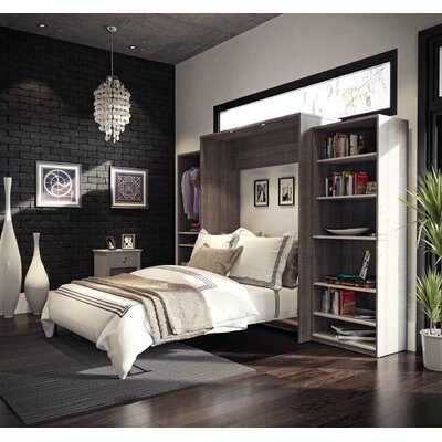 Medan Classic Murphy Bed Size: Queen, Color: Bark Gray