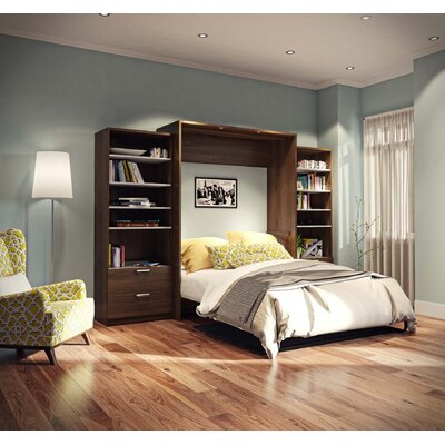 Medan Premium Murphy Bed Finish: Oak Barrel , Size: Full