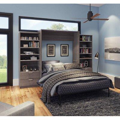 Medan Premium Murphy Bed Size: Queen, Finish: Bark Gray