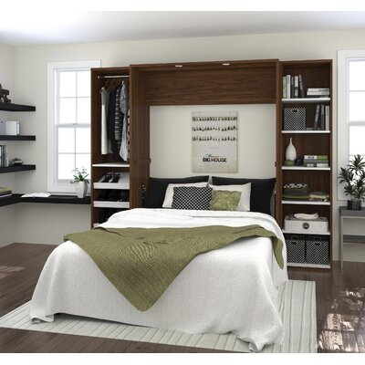 Medan Classic Murphy Bed Size: Queen, Color: Oak Barrel