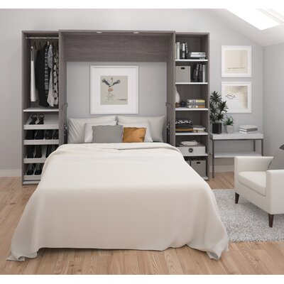Medan Classic Murphy Bed Finish: Bark Gray, Size: Full