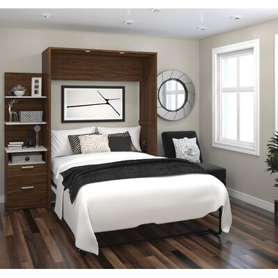 Medan Murphy Bed Size: Full, Color: Oak Barrel