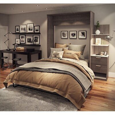 Medan Murphy Bed Size: Full, Finish: Bark Gray