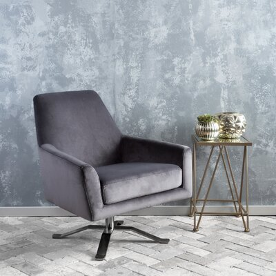 Edmund Swivel Armchair Upholstery: Gray