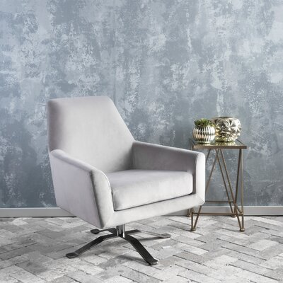 Edmund Swivel Armchair Upholstery: Light Gray