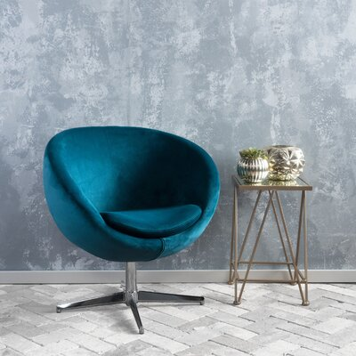 Ted Barrel Chair Upholstery: Dark Teal